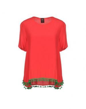 Блузка GUTTHA. Цвет: красный
