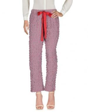 Повседневные брюки ROSE' A POIS. Цвет: красный