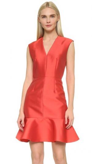 Платье без рукавов Carven. Цвет: красный