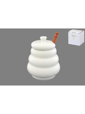 Горшочек для меда Бочонок Elan Gallery. Цвет: белый, коричневый