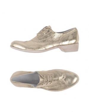 Обувь на шнурках CANDICE COOPER. Цвет: золотистый