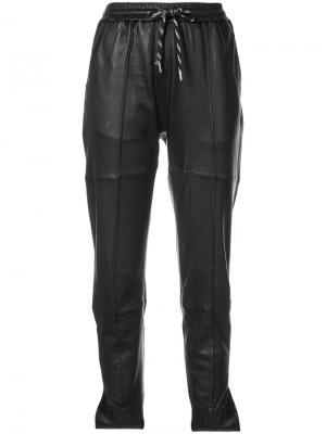 Зауженные спортивные брюки Designers Remix. Цвет: чёрный