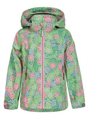 Куртка Icepeak. Цвет: зеленый, серебристый, розовый