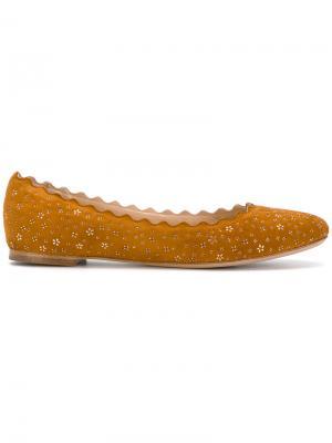 Балетки Lauren Chloé. Цвет: жёлтый и оранжевый