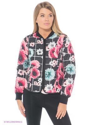 Куртка OUTFITTERS NATION. Цвет: черный, розовый