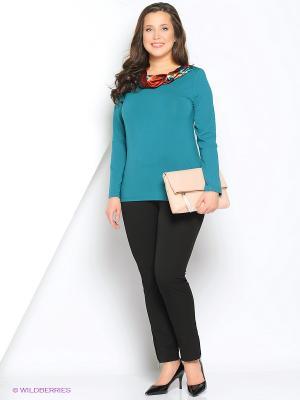 Блуза BALSAKO. Цвет: бирюзовый