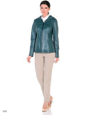 Кожаная куртка MONDIAL. Цвет: темно-зеленый
