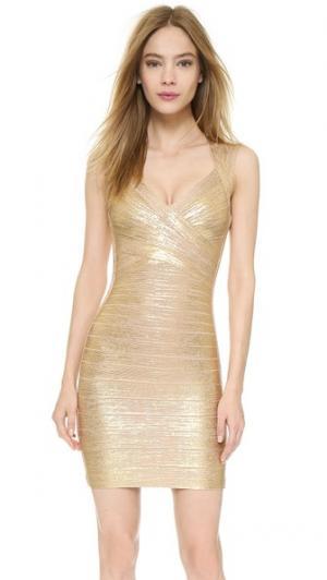 Платье Iman Herve Leger. Цвет: золотой