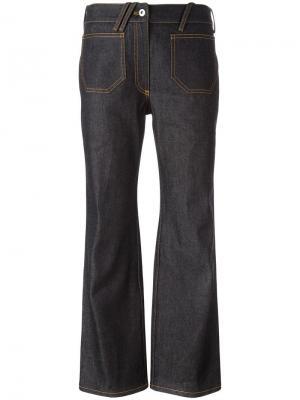 Укороченные расклешенные джинсы Courrèges. Цвет: синий