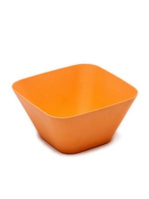 Миска квадратная, 14,5*14,5*7,5 см MOULINvilla. Цвет: оранжевый