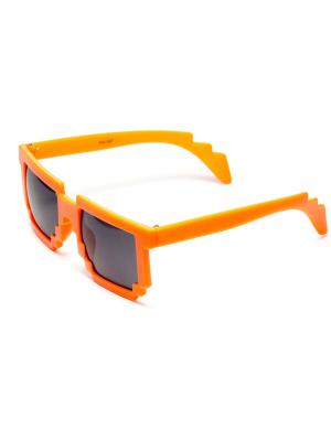 Пиксельные очки MASKBRO. Цвет: оранжевый