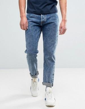 Edwin Суженные книзу джинсы свободного кроя с эффектом кислотной стирки Edwi. Цвет: синий