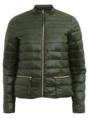 Куртка Vila. Цвет: темно-зеленый