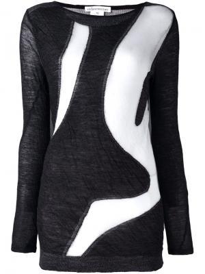 Двухцветный свитер Stefano Mortari. Цвет: серый