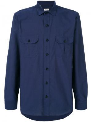 Рубашка с нагрудными карманами Salvatore Piccolo. Цвет: синий