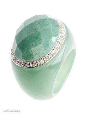 Ювелирное кольцо Migura. Цвет: зеленый, серебристый