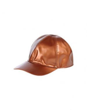 Головной убор MARC JACOBS. Цвет: ржаво-коричневый