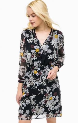 Платье с цветочным принтом и подкладкой из вискозы MORE &. Цвет: цветочный принт