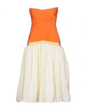 Платье до колена ELLA LUNA. Цвет: оранжевый