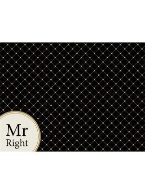 Сервировочная салфетка MR RIGHT Contento. Цвет: черный, бежевый
