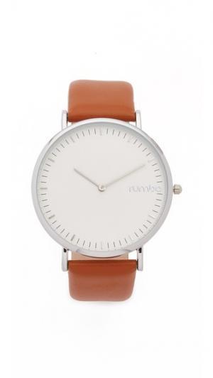 Часы SoHo с кожаным ремешком каштанового цвета RumbaTime