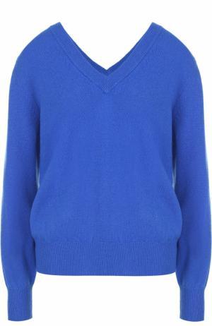 Пуловер свободного кроя с V-образным вырезом Victoria Beckham. Цвет: синий