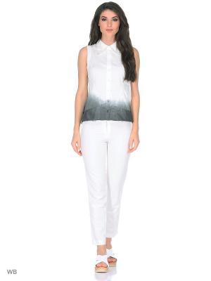 Рубашка Mariagrazia Panizzi. Цвет: темно-серый, белый
