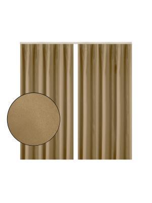 Портьера Софт светло-коричневый 180х270 см. T&I. Цвет: светло-коричневый