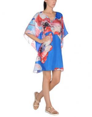 Пляжное платье FISICO. Цвет: лазурный