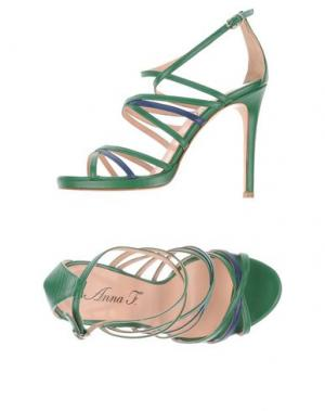 Сандалии ANNA F.. Цвет: изумрудно-зеленый