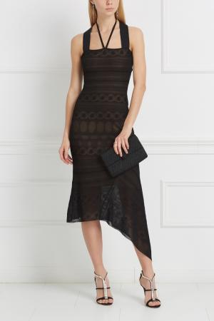 Платье с кружевом Stevan Roland Mouret. Цвет: черный