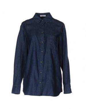 Джинсовая рубашка EQUIPMENT FEMME. Цвет: синий