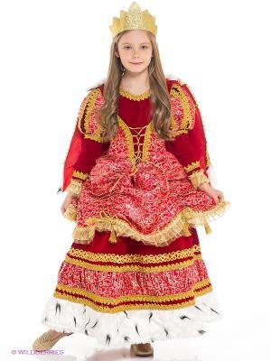 Карнавальный костюм Царица Батик. Цвет: красный