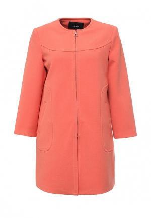 Пальто oodji. Цвет: оранжевый