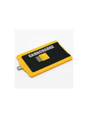 Кредитка-зарядное устройство Cardcharge Экспедиция. Цвет: черный, желтый