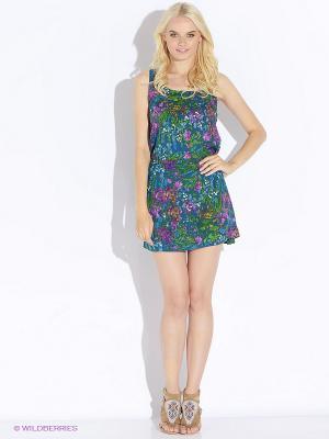 Платье Up Girl. Цвет: синий, зеленый