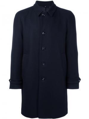 Пальто с заостренными лацканами Hevo. Цвет: синий