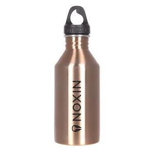 Бутылка для воды  Nixon M6 600ml Lock Up Glossy Rose Gold W Black Print Mizu. Цвет: черный