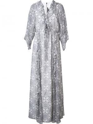 Платье Funk Thomas Wylde. Цвет: белый