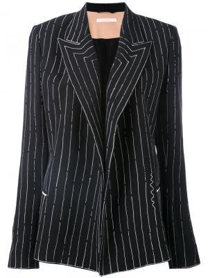 Классический пиджак Ssheena. Цвет: чёрный