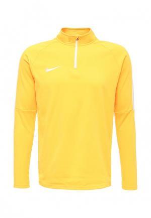Лонгслив спортивный Nike. Цвет: оранжевый