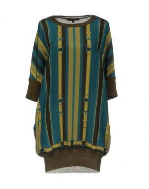 Короткое платье GUCCI. Цвет: зеленый-милитари