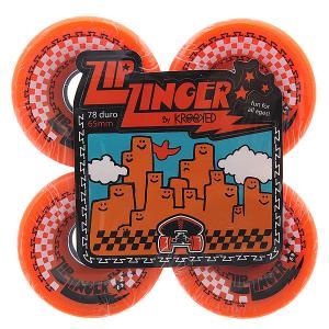 Колеса для скейтборда лонгборда  Zip Zingesr Orange 78A 65 mm Krooked. Цвет: оранжевый