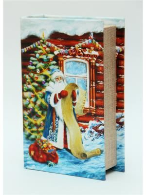Декоративная шкатулка Дед Мороз со списком Magic Time. Цвет: зеленый