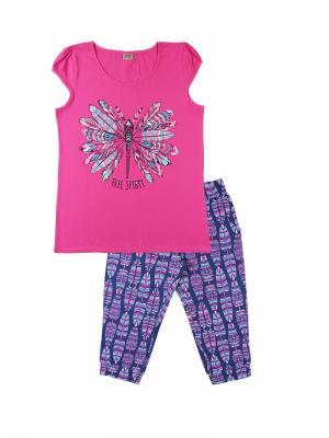 Комплект женский (футболка, бриджи) Family Colors. Цвет: сиреневый