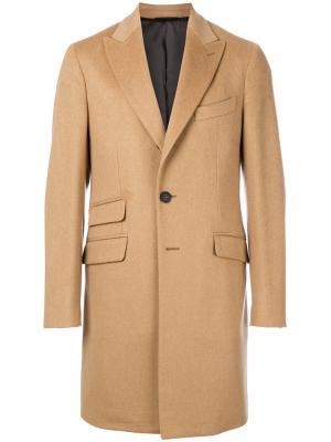 Классическое пальто с асимметричными карманами Hevo. Цвет: телесный