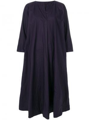 Платье миди с разрезом Daniela Gregis. Цвет: синий
