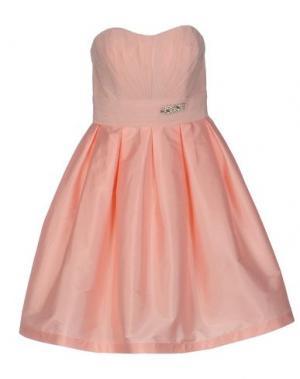 Короткое платье MUSANI COUTURE. Цвет: телесный