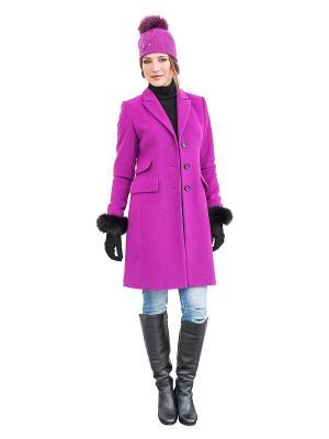 Пальто APART. Цвет: фиолетовый