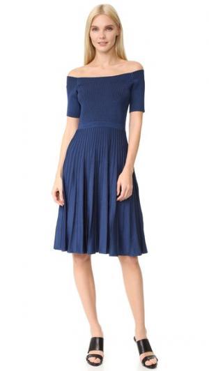 Трикотажное платье с короткими рукавами Jason Wu. Цвет: кобальт